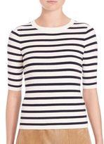 SET Striped Knit Top