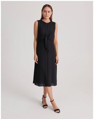 Basque Tie Front Dress