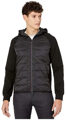 Paul Smith Quilted Puffer Tech Jacket (Black) Men's Clothing