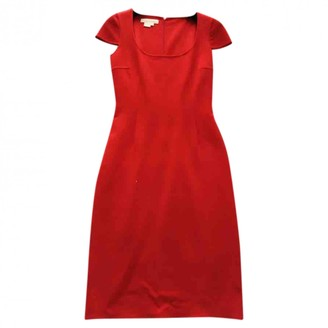 Michael Kors Red Wool Dresses