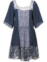 Chloé polka dot lace insert dress