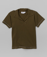 Flap Happy Army Green Polo - Infant & Toddler
