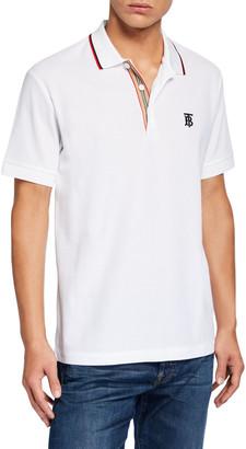Burberry Men's Polo Shirt with Icon Stripe Placket