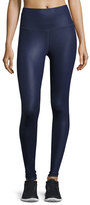 Alo Yoga Airbrush High-Waist Sport Leggings, Rich Navy Glossy