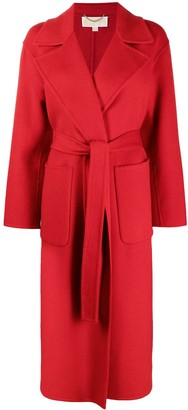 MICHAEL Michael Kors Tied-Waist Wrap Coat