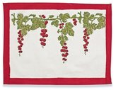 Couleur Nature Gooseberry Mats, 15-inches by 18-inches, Red/Green, Set of 6