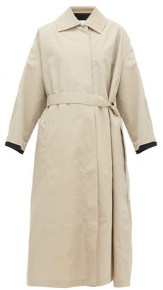 Jil Sander Belted Canvas Trench Coat - Beige Multi