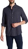Jack Spade Sheppard Trapunto Flannel Trim Fit Shirt