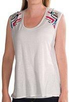 Chaser Boxy Flow Muscle Shirt - Embellished, Sleeveless (For Women) (Large)