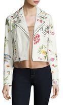 Alice + Olivia Cody Embroidered Stud Cropped Jacket