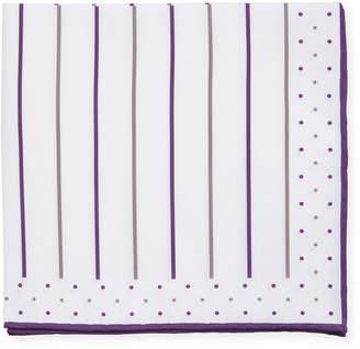 Brunello Cucinelli Multicolor Stripe Pocket Square