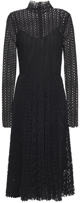 Philosophy di Lorenzo Serafini Pleated Macrame-lace Midi Dress