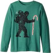 Life is Good Wild Man Candy Cane Long Sleeve Crusher Tee Boy's Long Sleeve Pullover