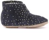Pom D'Api Polka Dot Suede Mini Zip-Up Shoes