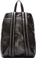 Christopher Kane Black Leather Crackle Backpack