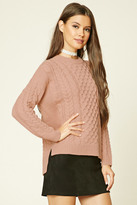 Forever 21 FOREVER 21+ Cable-Knit Sweater
