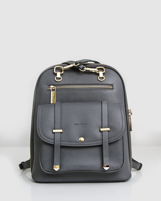 Belle & Bloom Women's Grey Leather bags - 5th Ave Leather Backpack - Size One Size at The Iconic