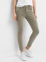 Mid rise true skinny ankle color jeans