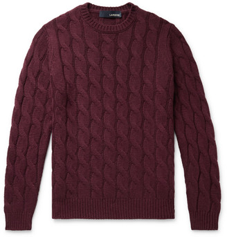 Lardini Slim-Fit Cable-Knit Cashmere Sweater