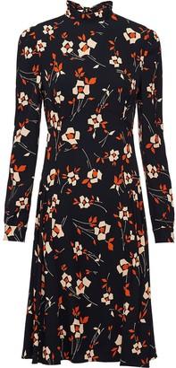 Prada Floral-Print Sable Dress