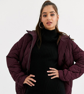 Asos Tall DESIGN tall ultimate puffer-Purple