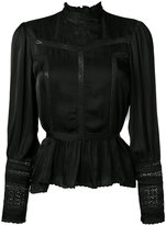 Denim & Supply Ralph Lauren flared hem blouse - women - Polyester/Viscose - L