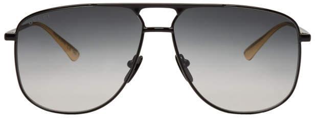 Gucci Black 80s Aviator Sunglasses
