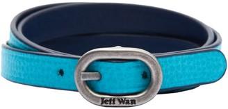 Jeff Wan Reversible Leather Bracelet With Buckle Closure Lagoon Brooklyn