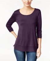 Style&Co. Style & Co Chiffon-Hem Top, Created for Macy's