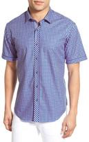 Bugatchi Classic Fit Short Sleeve Gingham Sport Shirt