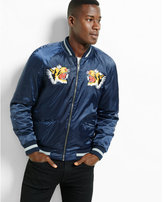 Express embroidered souvenir bomber jacket
