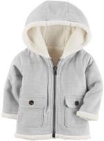 Carter's Baby Boy Sherpa Hood Flannel Jacket