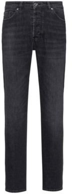 HUGO BOSS Relaxed-fit jeans in black stretch denim