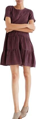 Madewell Short Sleeve Tiered Minidress