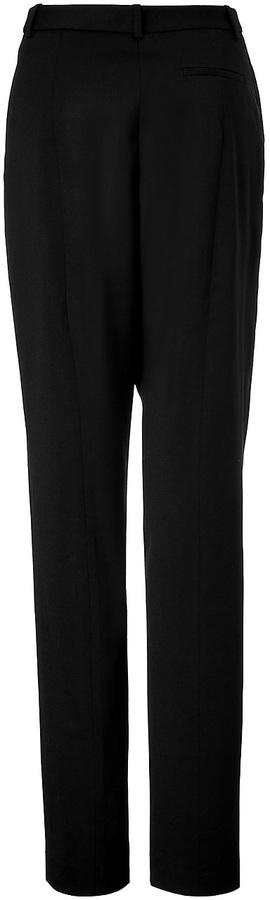 Jil Sander Navy Wool Pants in Black