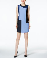 Calvin Klein Colorblocked Denim Sheath Dress