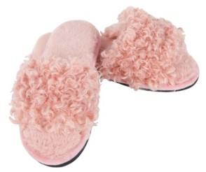 Me Moi MeMoi C'Est Bon Open Toe Plush Slippers