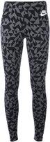 Nike printed leggings - women - Cotton/Spandex/Elastane - L