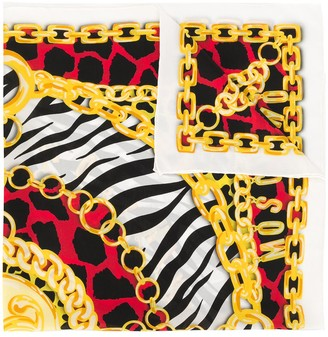 Moschino Animal Chain Print Scarf