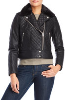 Andrew Marc Diamond Quilted Faux Leather Jacket