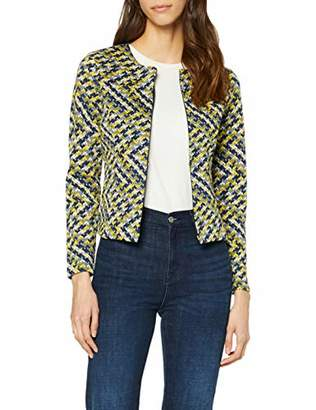 Tom Tailor Casual Women's 1008136 Suit Jacket, Yellow (Yellow Blue Structur 353), (Size: X-Large)