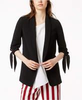 Bar III Tie-Sleeve Blazer, Created for Macy's