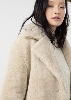 And other stories Faux Fur Wool Blend Jacket