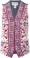 Michel Klein paisley bead waistcoat - women - Silk/plastic/glass - 32