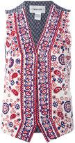 Michel Klein paisley bead waistcoat