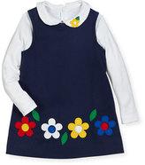 Florence Eiseman Brushed Twill Jumper & Long-Sleeve Blouse, Size 2-6X