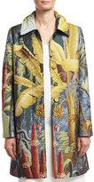 ADAM by Adam Lippes Jungle-Print Rain Coat, Multi