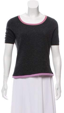 Chanel Short Sleeve Cashmere Sweater