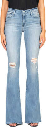 Black Orchid Mia Mid-Rise Skinny Flare Jeans