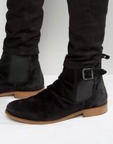 Dune Casper Suede Zip Boots
